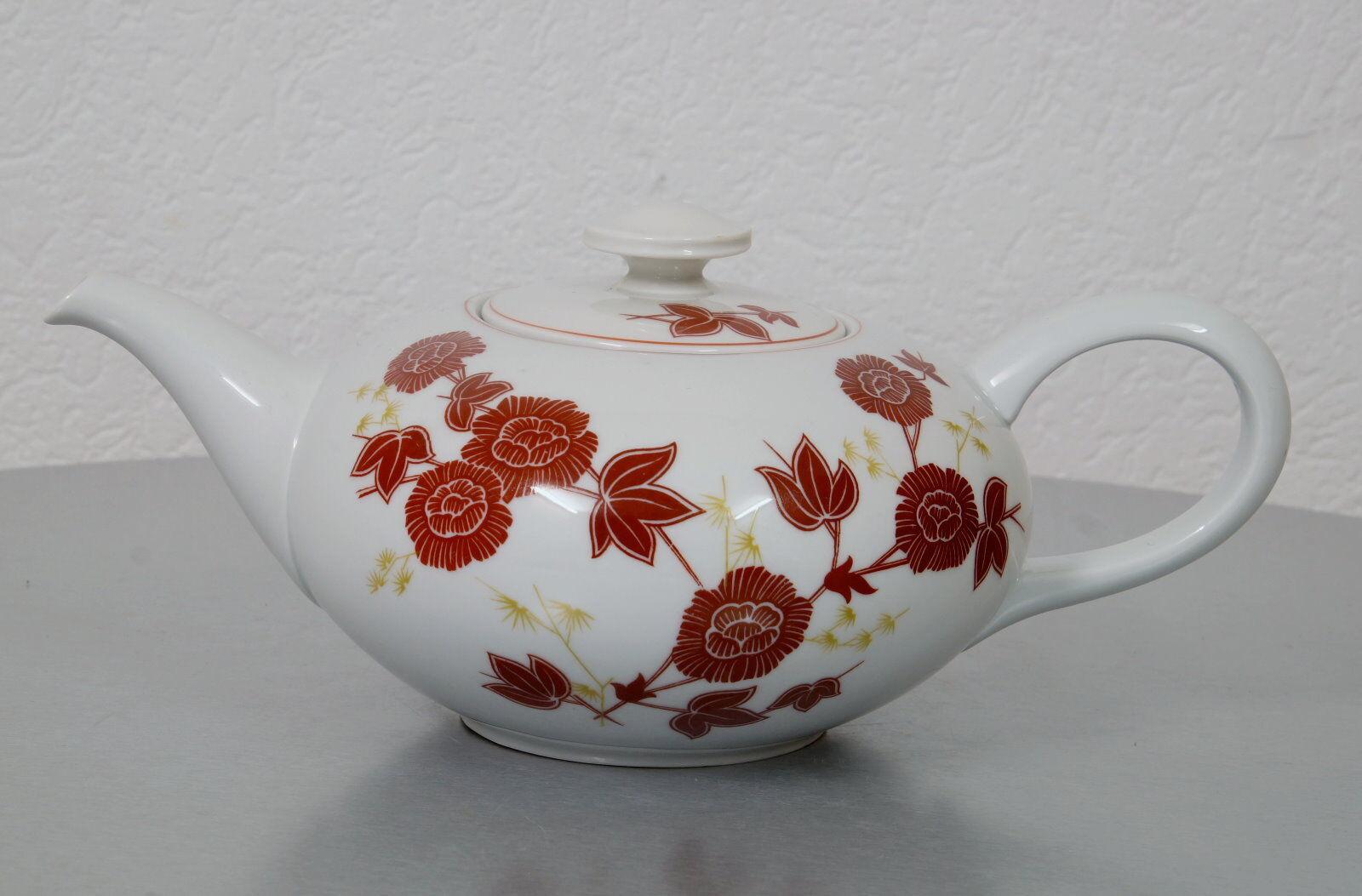 Hutschenreuther Selb Porzellan Teekanne Kaffee Kanne Art Dèco Dèco Dèco 40er Jahre US Zone 998fcc
