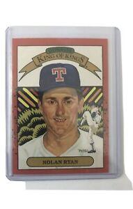 "1990 Donruss Nolan Ryan Diamond King of Kings ""Rare Error"" Card Number Missing"