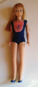 Vintage-Barbie-1120-Bend-Leg-Skipper-1965-Original-Mattel-HTF-Swimsuit