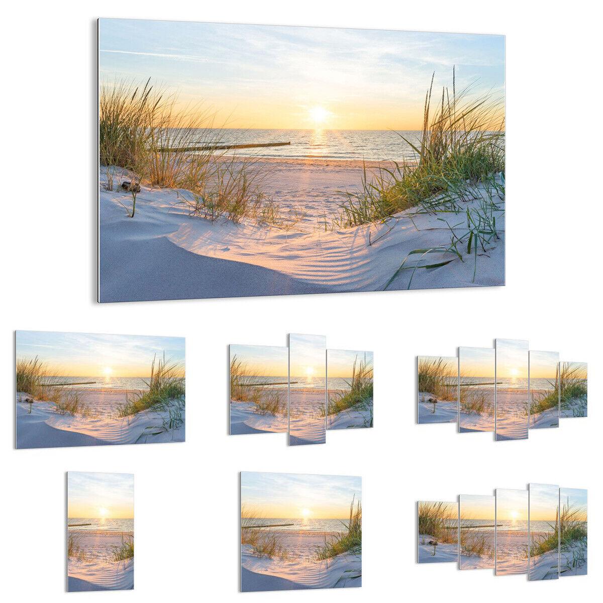 IMAGE SUR VERRE Tableau dune plage mer 3989 FR