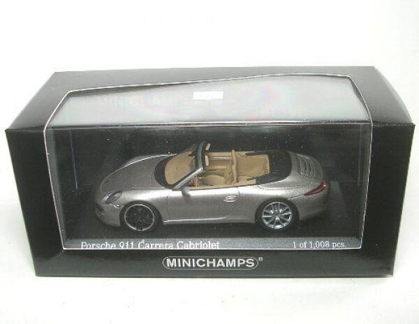 Porsche 911 Carrera Cabriolet (platinsilver) 2012  1 43