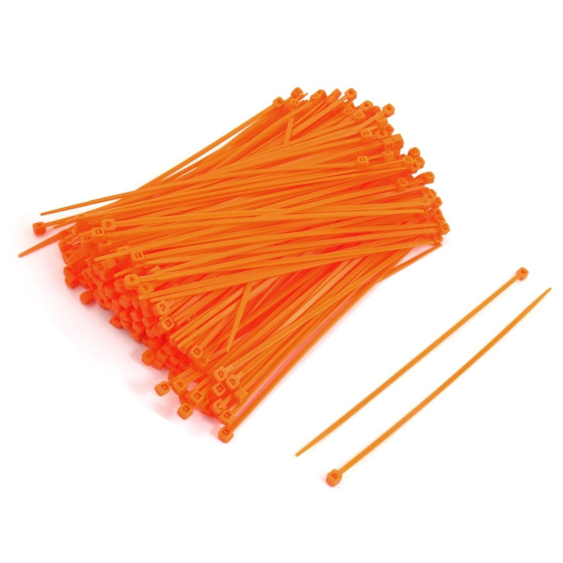 Cable Ties 4.8mm x 370mm Nylon Tie-Wrap Orange !! Pack of 100 units !!