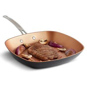 """VonShef 11"""" Copper Griddle Pan"""