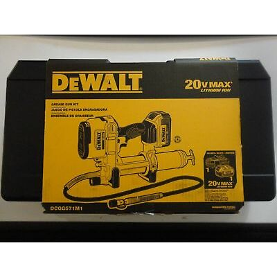 Dewalt DCGG571M1 20-volt MAX Lithium Ion Grease Gun