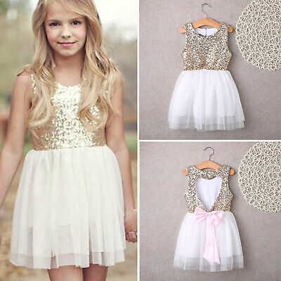 Kids Girl Sleeveless Princess Dress Wedding Tulle Tutu Dress Party Mini Sundress