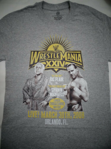 WWE Ric Flair Vs Shawn Michaels HBK Career Match Wrestlemania XXIV 24 T-Shirt
