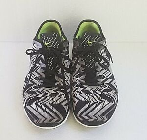 online retailer ac874 ca52e Details about Nike Free Tri Fit 5 Chevron Shoes Black And Silver Womens  Size 9