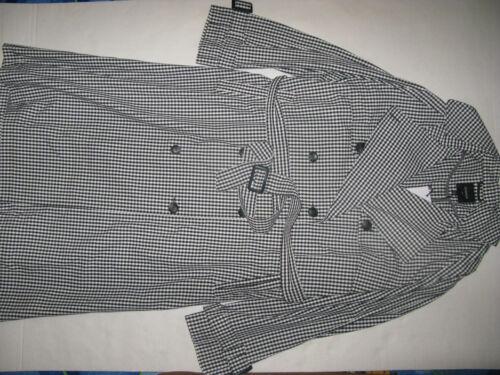 Rrp £90 Size White J Uk Long 22 Next eu Squares Belt Outerwear Black 50 Coat qwUZT