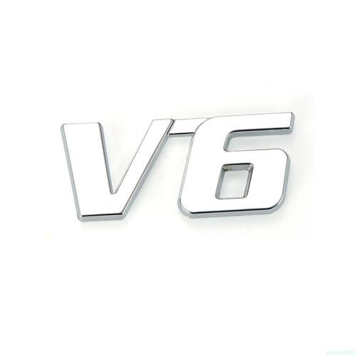1pc Car Metal Chrome 3D V6 Displacement Emblem Badge truck auto sticker decal