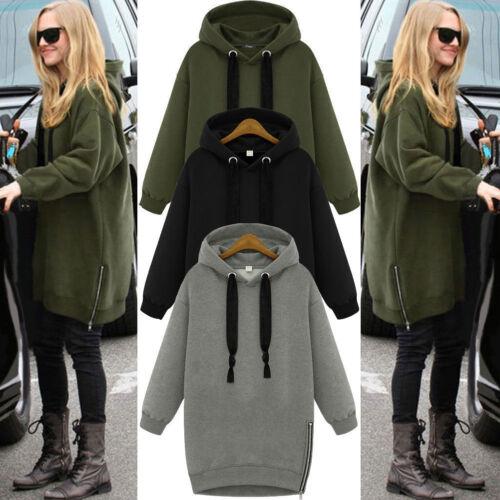 Damen Hoodie Kapuzenpullover Sweatshirt Langarm Hooded Coat Locker Pullover Tops
