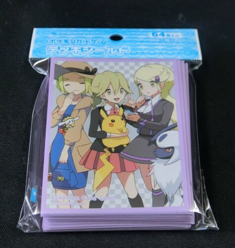 Pack 66 x 92 mm Japanese Pokemon Card Official Sleeve Kalos Girls 64