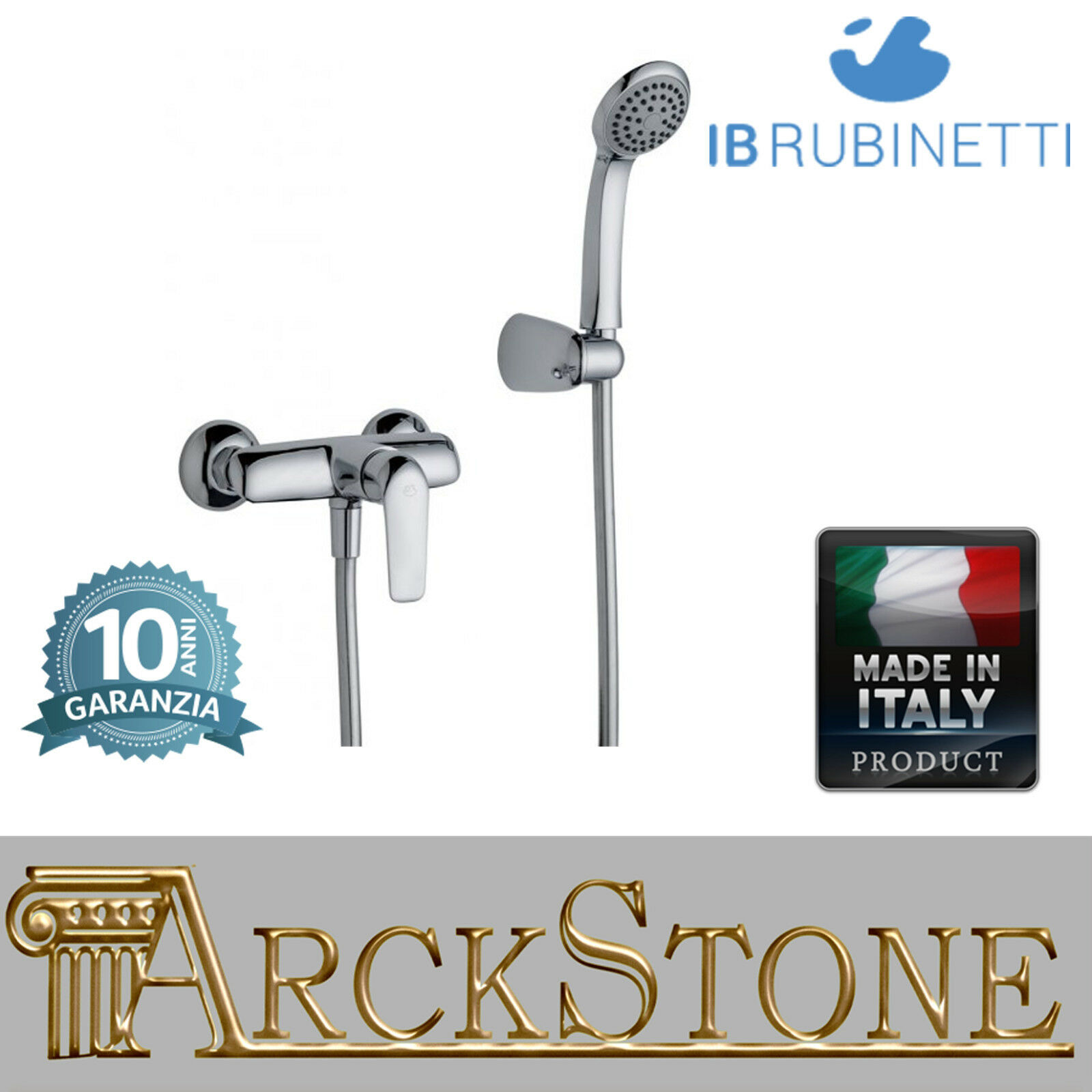 Miscelatore doccia a parete esterno completo kit doccia IB rubinetti MagicTouch