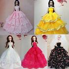 Rose Fait Main Mode Robe De Mariée Robes Fille Fête Pour Poupée Barbie Noël