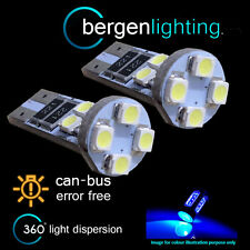 2X W5W T10 501 CANBUS ERROR FREE BLUE 8 LED INTERIOR COURTESY BULBS HID IL101601