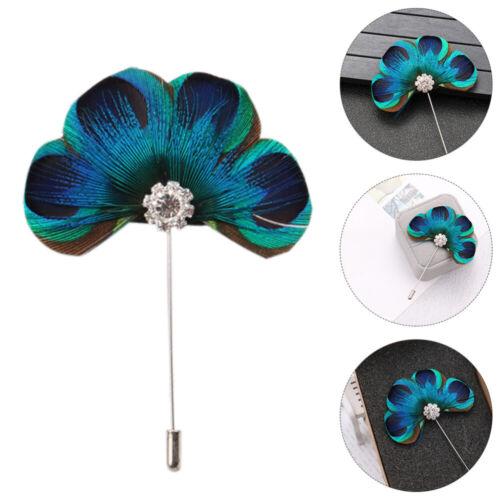 Ladies Elegant Peacock Feather Temperament Brooch Pin Women Jewelry Decoration