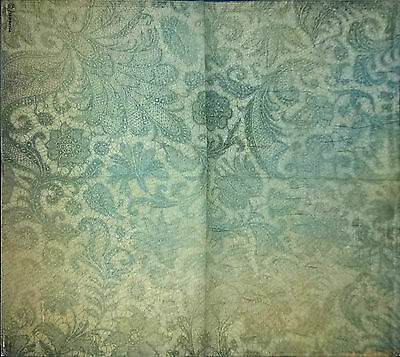 Rice Paper Napkin for Decoupage, Scrapbooking, Vintage Blue Lace, 50x50cm DFT276