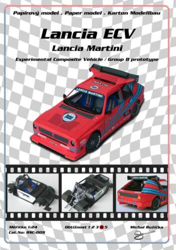 RSC-009 Lancia ECV Martini Experimental Group B prototype paper model papercraft