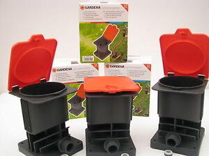 3x gardena anschlussdose 2795 20 inkl hahnst ck sprinklersystem schlauch regner. Black Bedroom Furniture Sets. Home Design Ideas