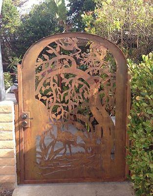 Metal Art Gate Entry Designer Walk Pedestrian Steel Garden Gate,natural Rust