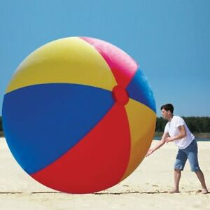 Image Is Loading HUGE 10 FOOT Inflatable Giant Beach Ball MEGA