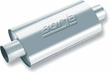 """Borla 40943 XR-1 Stainless Sportsman Racing Muffler Oval 3"""" Inlet 3"""" Outlet"""