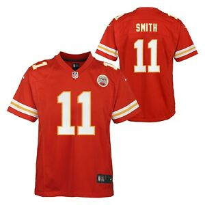 watch 9cde1 7da8a Details about Alex Smith Kansas City Chiefs NFL Nike Youth Red Game Jersey