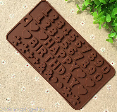 48 letters Silicone Chocolate Molds Jelly Ice Molds Cake Mould Bakeware