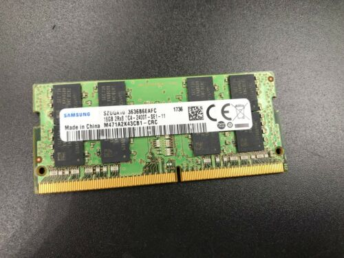 Samsung 16GB Laptop Memory Ram 2Rx8 PC4-2400T MODULE #46MA