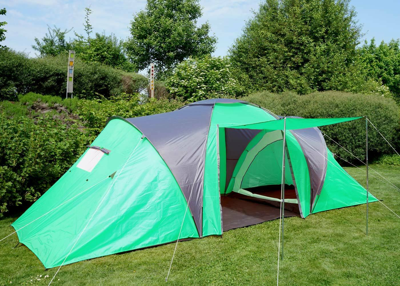 Tienda de camping Loksa, 6-hombre kuppelzelt igluzelt Festival-carpa, 6 personas verde