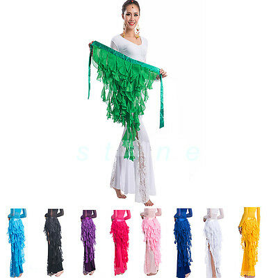 12 Colors Belly Dance Costume Waistband Hip Scarf Belt Wave Tassel Waist Chain