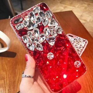 Women-039-s-Bling-Diamond-Crystal-TPU-PC-Case-Cover-For-Samsung-S11-LG-G8X-ThinQ
