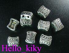 100Pcs Tibetan silver HEART 2 holes spacer beads A621
