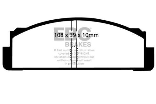 EBC Ultimax Arrière Plaquettes de frein pour MATRA M530 1.7 67 /> 73