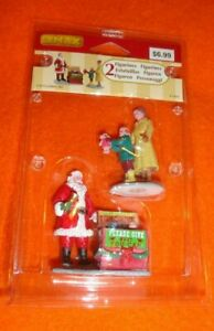 New 2015 Lemax Christmas Village Collection A Season of Giving Santa Toy Drive