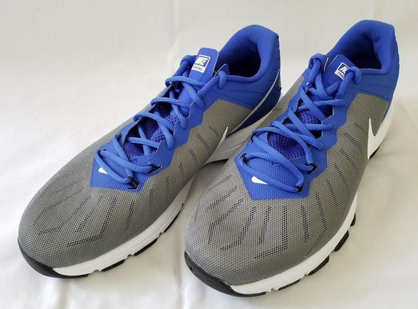 Mens Size Grey White Blue Nike Air Max Training Shoes 819004-004 preowned