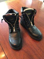 Balmain Paris Taiga Leather Ranger Women's Boots Size 41 (11) EUC Retails $1275