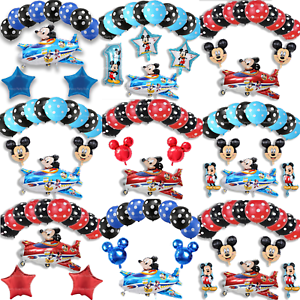 New-Disney-Mickey-Mouse-Birthday-Foil-Latex-Balloons-Plane-Party-Decorations-Boy