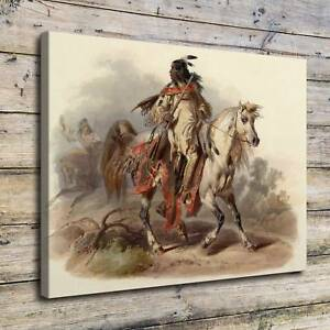 Details about Bodmer Blackfoot Indian Paintings HD Print on Canvas Home  Decor Wall Art Poster