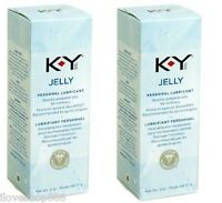 K-y Ky Jelly Personal Lubricant Excites Delights Ignite Love 2 Oz Tube 2 Pack