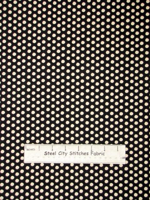 RJR Holiday Dreams Christmas Polka Dot Circles Black 100% Cotton Fabric Yard