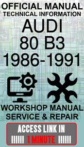 #ACCESS officina ufficiale di collegamento Manuale servizio e riparazione AUDI 80 B3 1986-1991