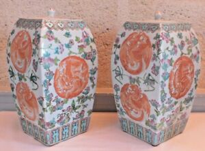 Vaso Porcellana Cina Dragons Cinese Ceramiche