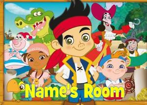 Image Is Loading JAKE PIRATE PERSONALISED DOOR PLAQUE 3 TYPES ACRYLIC