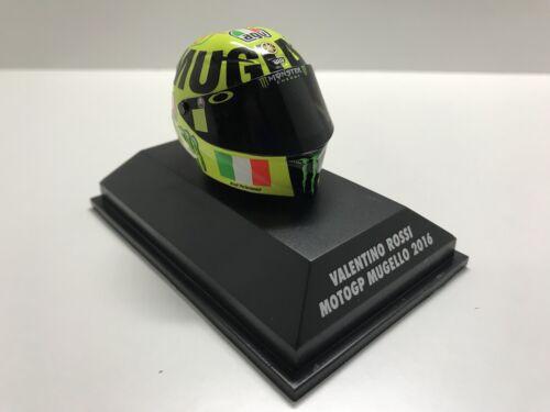 MINICHAMPS VALENTINO ROSSI AGV HELMET 1//8 YAMAHA CASCO GP MUGELLO 2016 398160086