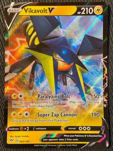 Vikavolt V 060//189 Darkness Ablaze Set HOLO Rare Pokemon Card NEAR MINT