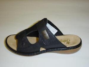 Details zu Rieker Pantoletten   schwarz   Glattleder   Größe 41 42 (Sandaletten)