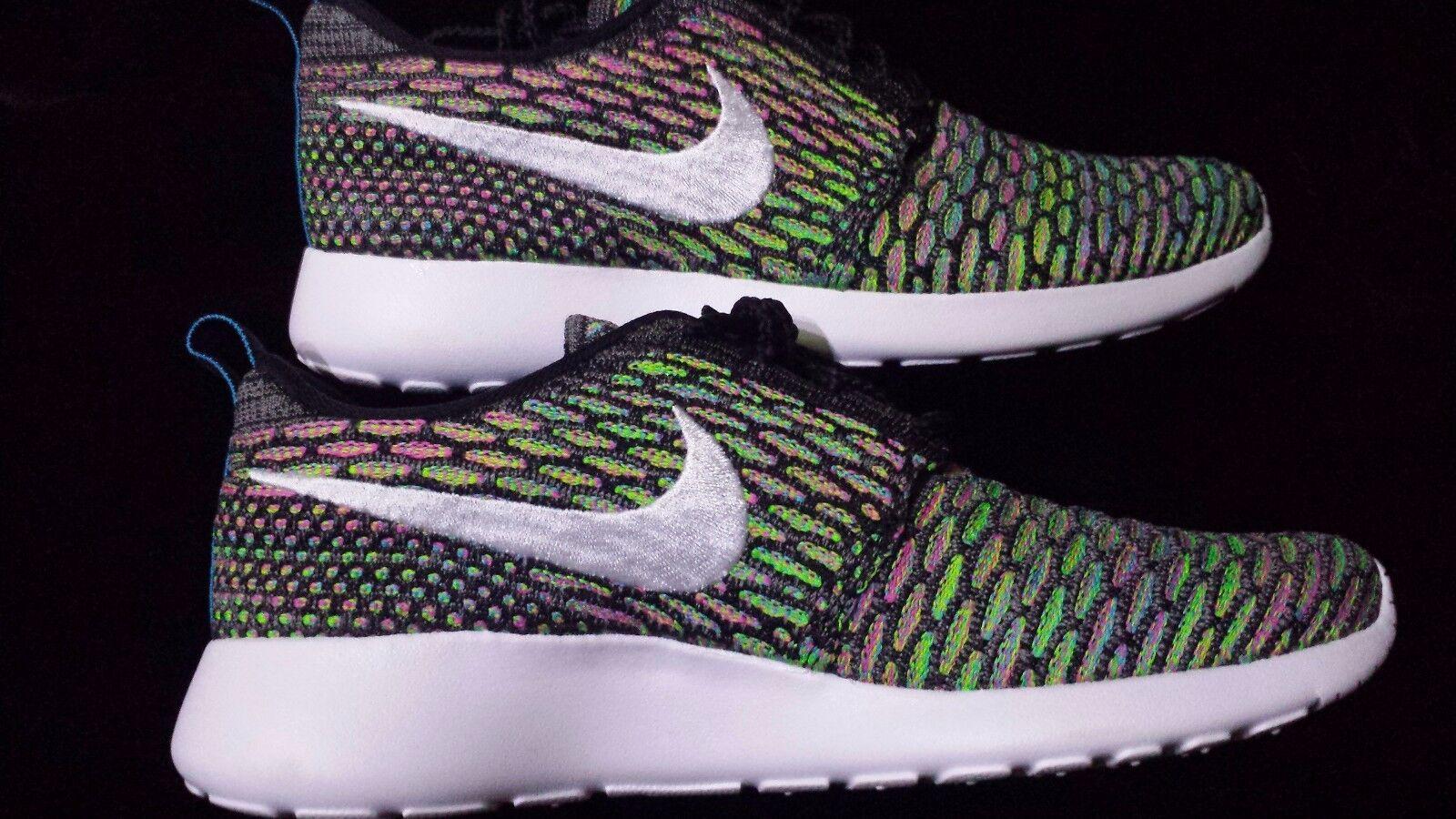Nike Wmns ROSHERUN FLYKNIT BLUE LAGOON PINK  Comfortable