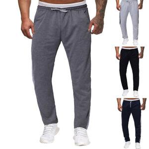 Men-039-s-Splicing-Printed-Pocket-Sport-Midi-Casual-Full-Length-Trouser-Work-Pants