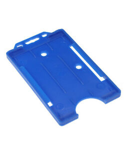 Blue Vertical Double Sided ID Card  Badge Holder Holds  Buy 2 get 3 - <span itemprop='availableAtOrFrom'>Pontypridd, United Kingdom</span> - Returns accepted - <span itemprop='availableAtOrFrom'>Pontypridd, United Kingdom</span>