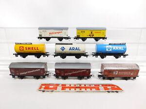 CG188-1-8x-Konrad-Dressler-H0-DC-Gueterwagen-DB-Shell-Aral-etc-Maengel-defekt